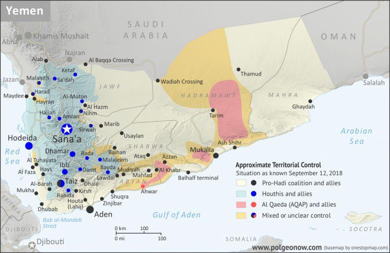 Yemen Control Map & Report - September 2018 on