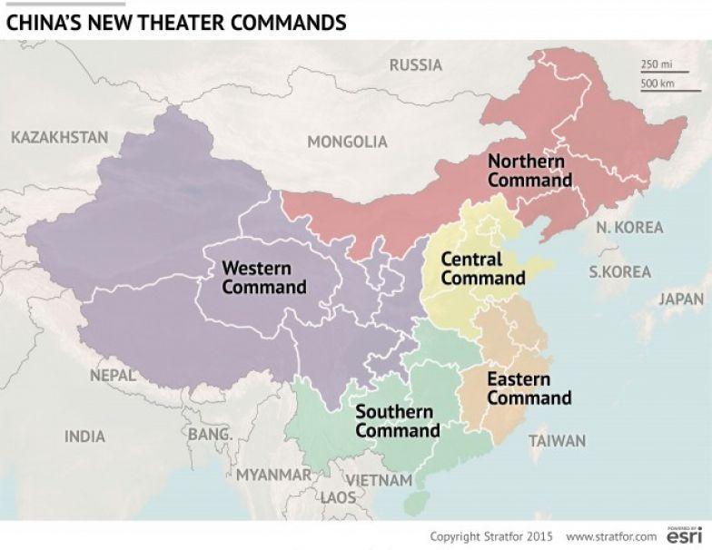 Chinese Theater Commands (na de hervormingen van 2016) - Bron: Stratfor