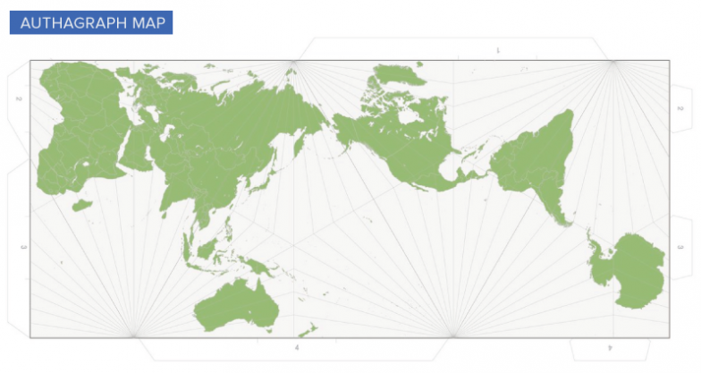 The problem with our maps the biggest downfall of the authagraph map is that longitude and latitude lines are no longer a tidy grid as well continents on the map are repositioned gumiabroncs Image collections