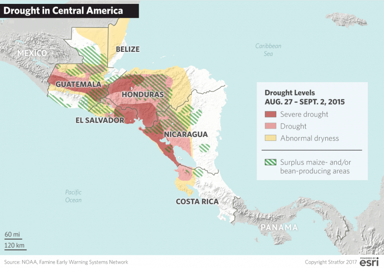Central America How a Drought Affects Migration