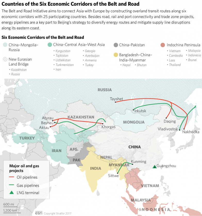 Chinese Regional Infrastructure Investments and Projects Map