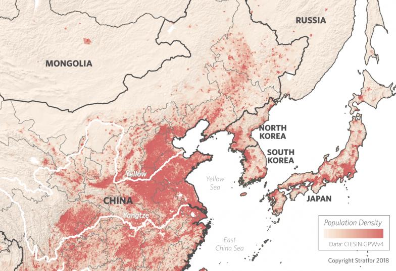 Northeast Asia Population Density