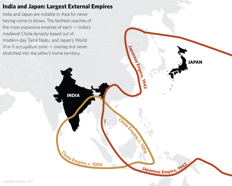 Chinas weight pulls india and japan closer together chola empire map japanese empire map gumiabroncs Gallery