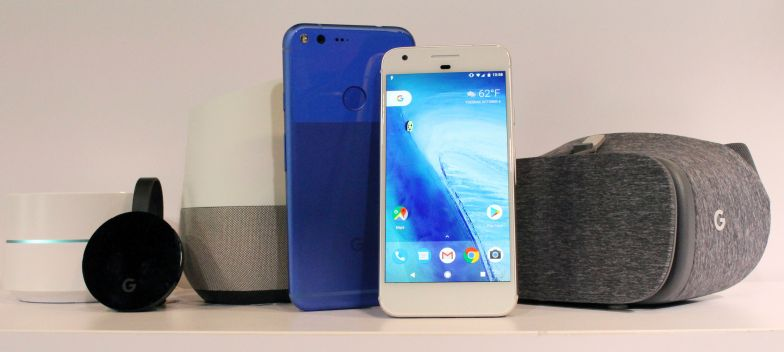 Google's hardware lineup has grown to include devices such as Wifi, Chromecast and Pixel.