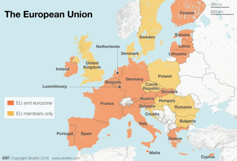 Who Will Exit The EU Next Stratfor Worldview - Belgium eurozone map