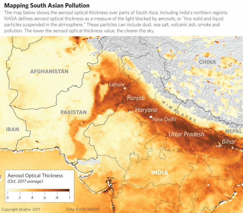 Mapping South Asian Pollution