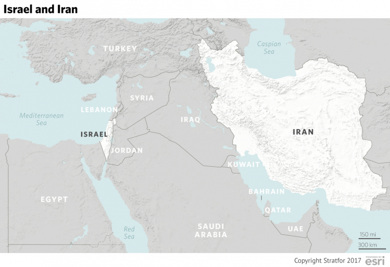 Israels real problem map of iran and israel in the middle east gumiabroncs Gallery