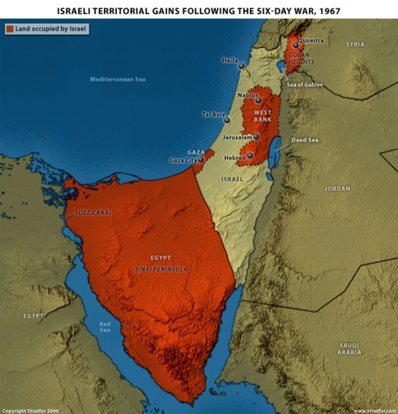 the history of the six day way between israel and a coalition of syria egypt jordan and iraq The six-day war between israel and its arab air forces of jordan, syria, and iraq recognition of israel egypt and jordan later gave up their.