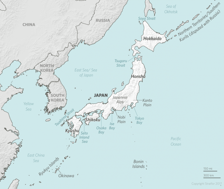 The geopolitics of japan an island power adrift the vast majority of the japanese population lives beneath the line that marks the northern limit for winter cropping which runs through central honshu gumiabroncs Images