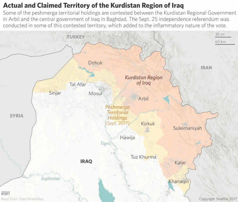 Clashes In Kirkuk Bring Societal Divisions Into Focus - Baghdad map world