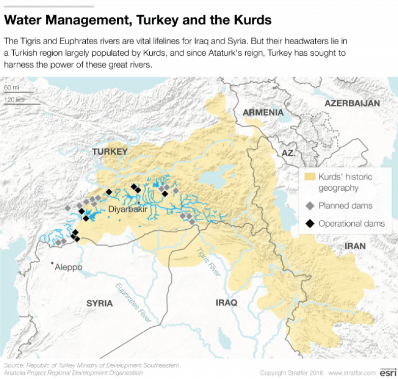 Dams Power Turkeys Conflict With The Kurds - Tigris river map world atlas
