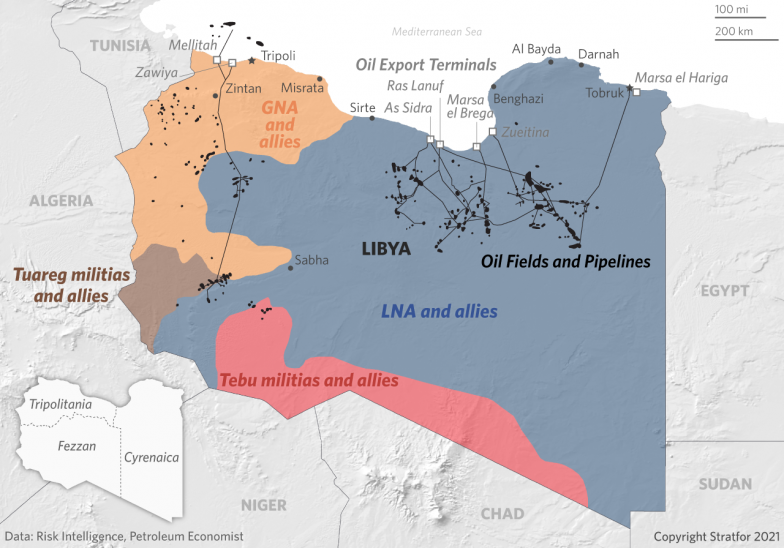 A Map Showing What Forces Control Libyan Territory