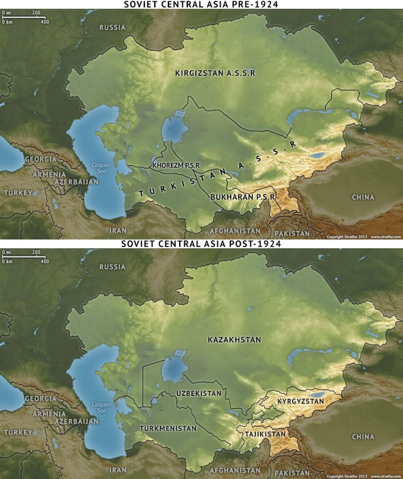 Soviet Central Asia Pre- and Post-1924