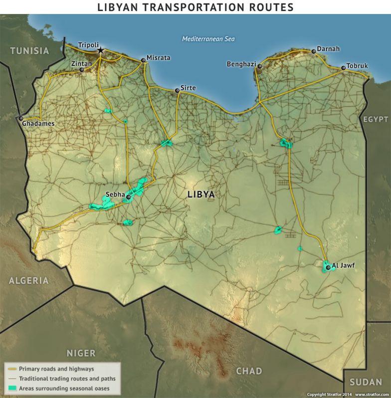 Libyan Transportation Routes
