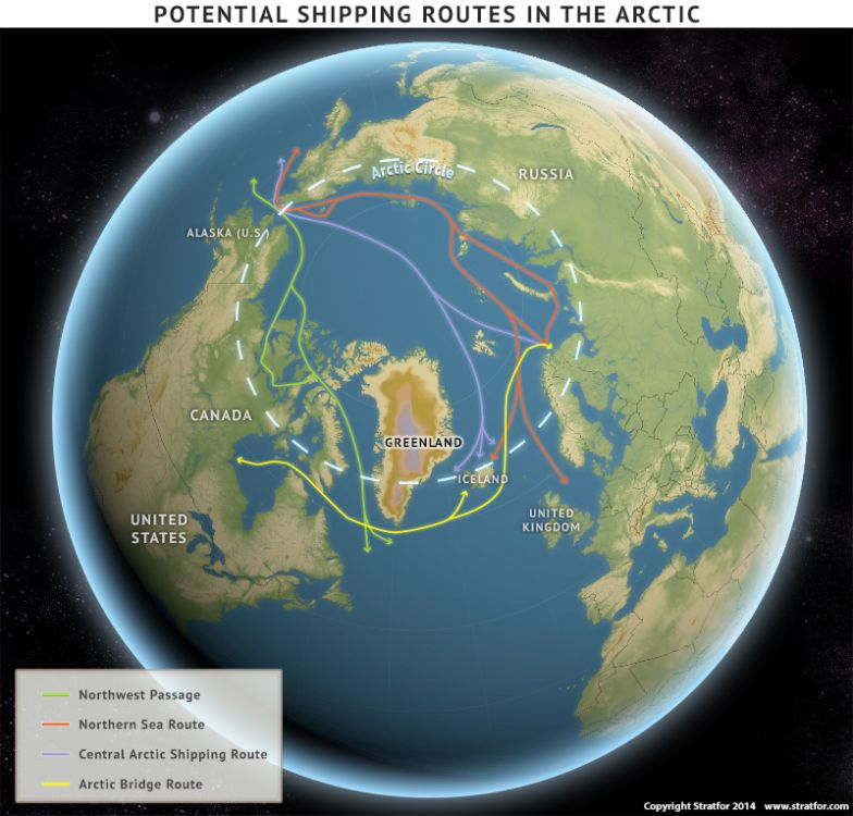 Potential Shipping Routes in the Arctic