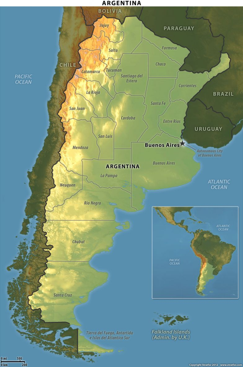 Map of Argentine Provinces