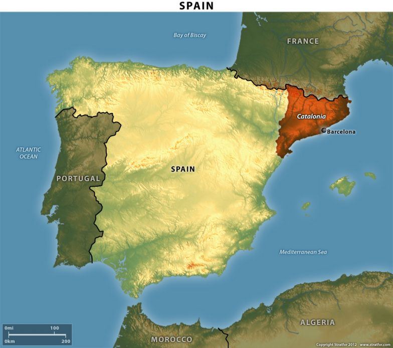 Spain's Autonomous Region of Catalonia
