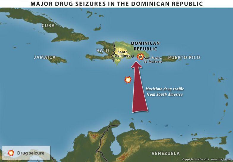 Major Drug Seizures in the Dominican Republic map