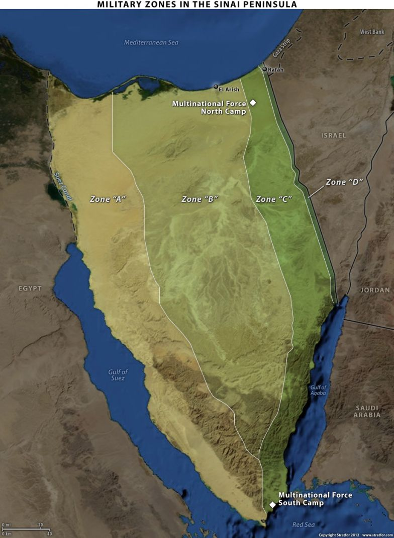 Military Zones in Sinai