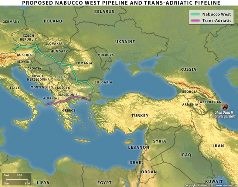 Proposed Nabucco West Pipeline and Trans-Adriatic Pipeline