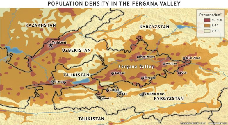 Population Density in the Fergana Valley