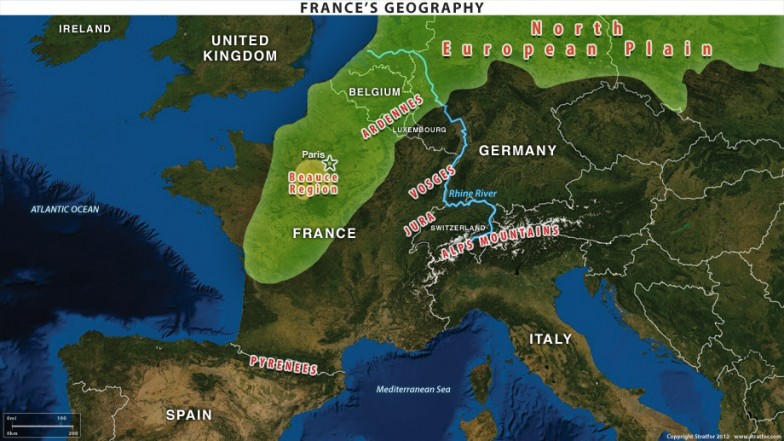 frances geographic advantages and weaknesses