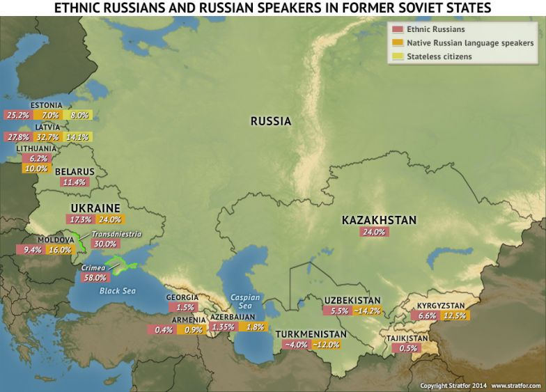 Ethnic Russians in the Baltic States  Stratfor Worldview