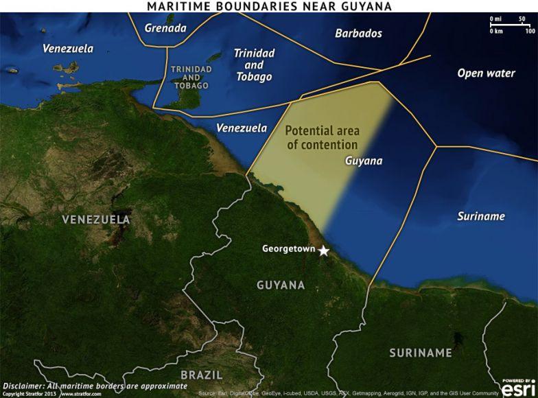 Maritime Boundaries Near Guyana