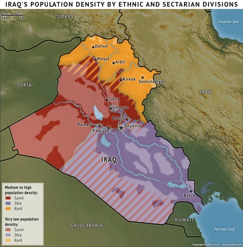 Iraq's Population Density By Ethnic and Sectarian Divisions