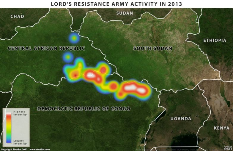 Map of Lord's Resistance Army Activity in 2013