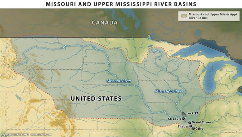 Missouri and Mississippi River Basins