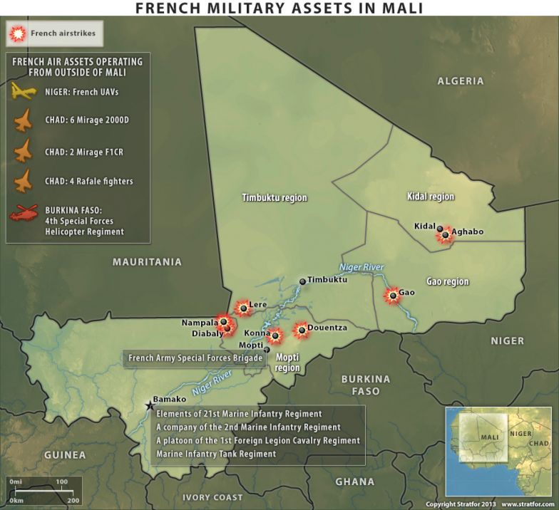 French Military Assets in Mali