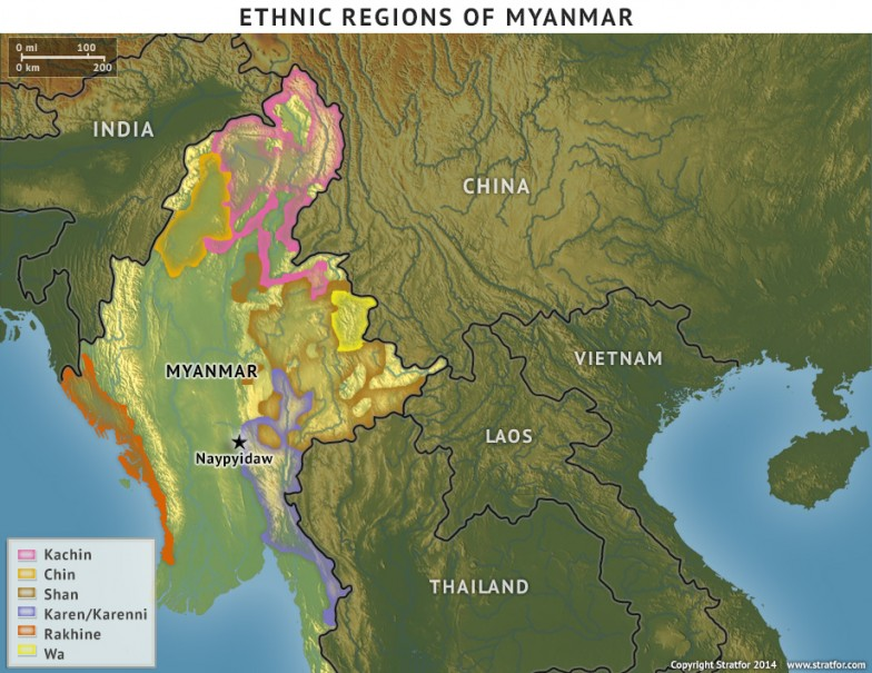 Ethnic Regions of Myanmar