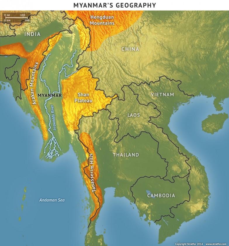 Myanmar's Geography