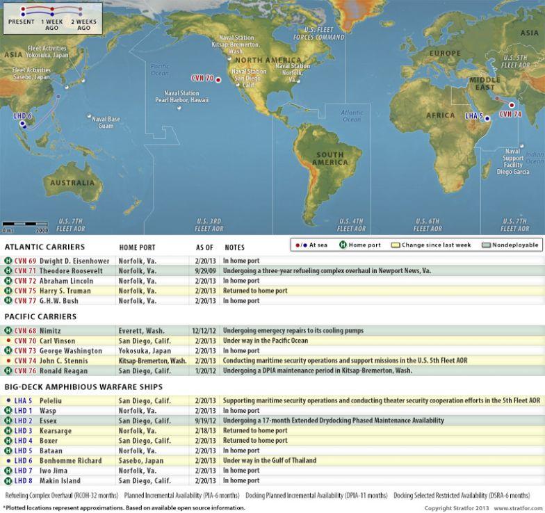 U.S. Naval Update Map