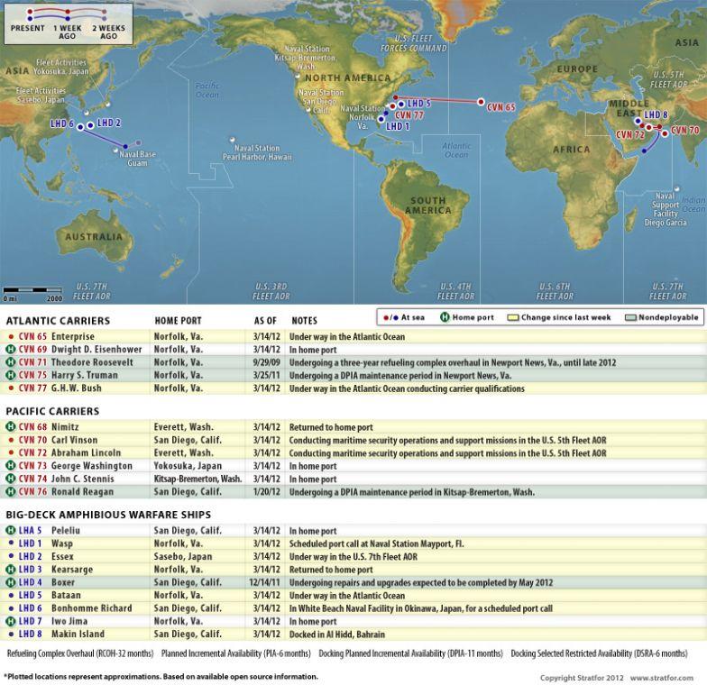 US Naval Update Map March - Atlantic ocean us map