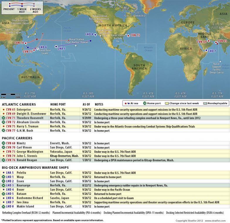 U.S. Naval Update Map: Sept. 26, 2012