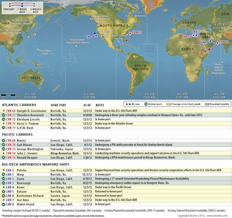 U.S. Naval Update Map: Dec. 5, 2012