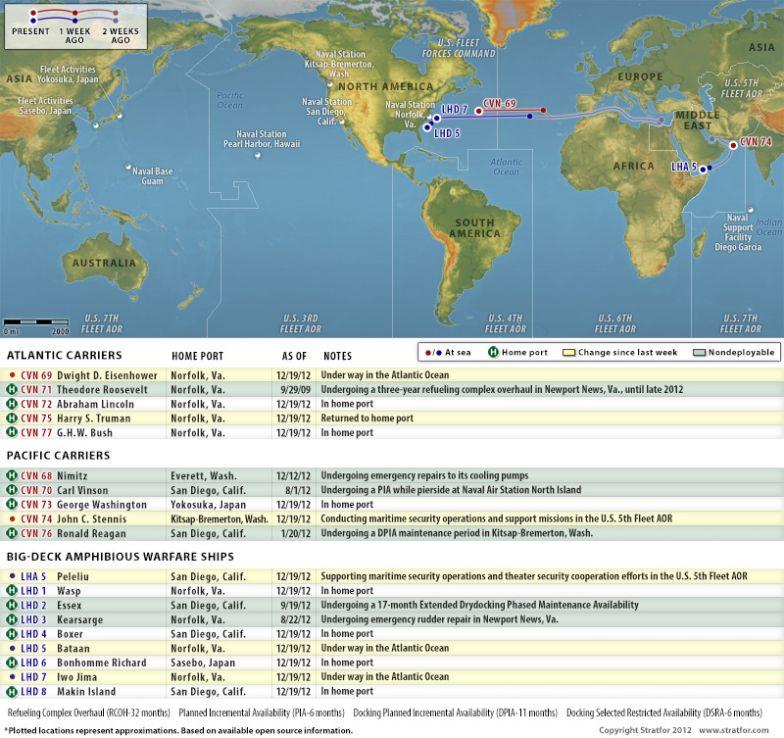 U.S. Naval Update Map: Dec. 19, 2012