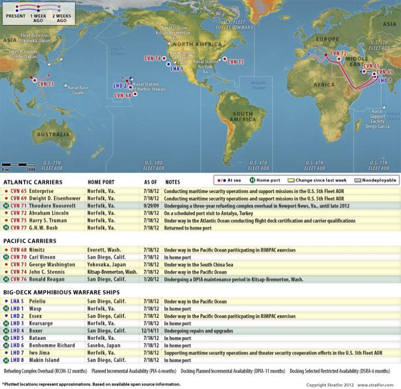 U.S. Naval Update Map: July 18, 2012