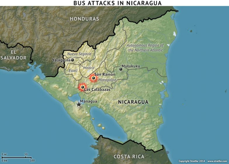 Bus Attacks in Nicaragua
