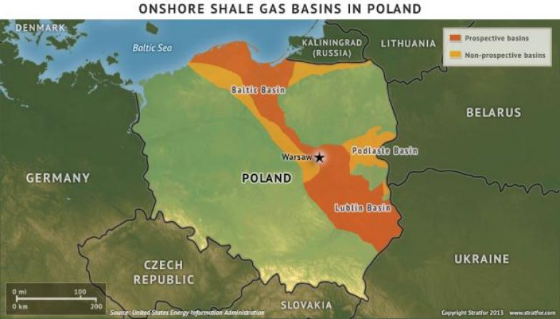 Onshore Shale Gas Basins in Poland