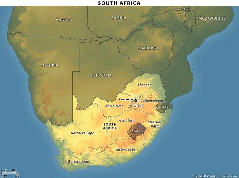 South Africa Locator Map