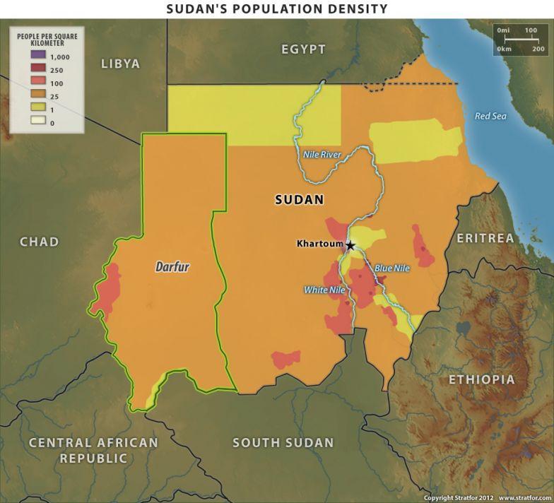 Sudan's Population Density