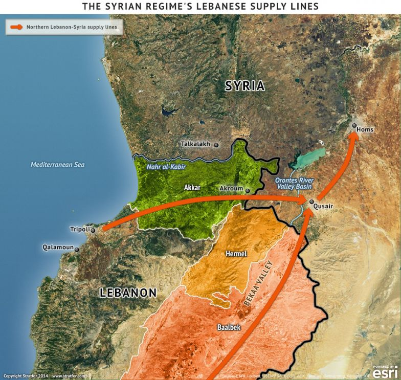 The Syrian Regime's Lebanese Supply Lines