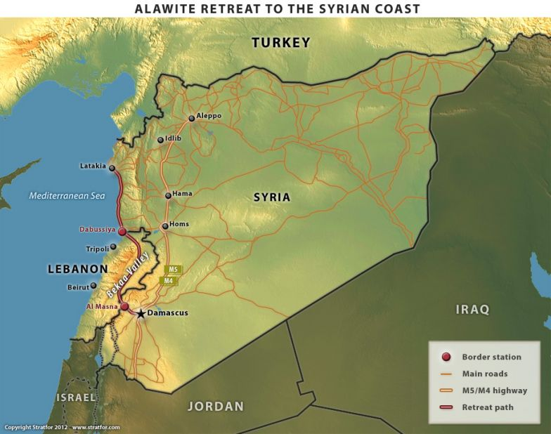 Alawite Retreat to the Syrian Coast