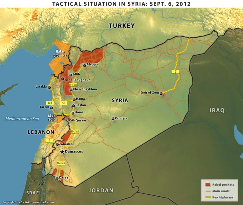 Tactical Situation in Syria: Sept. 6, 2012