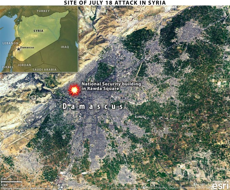 Site of July 18 Attack in Syria