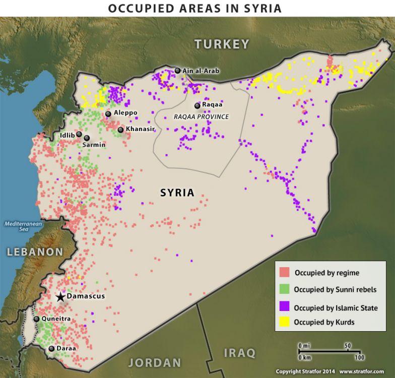 Syria Occupation Map