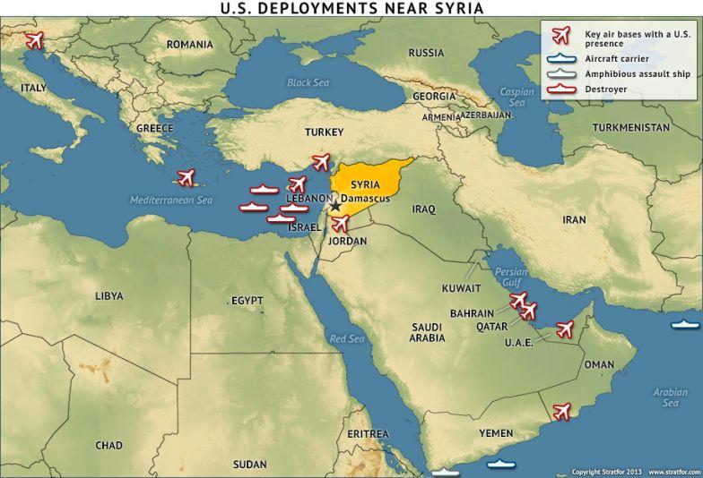 U.S. Deployments Near Syria